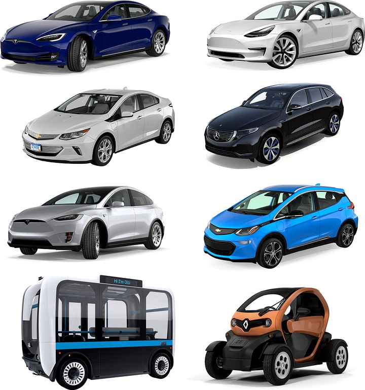 Electric Cars Collection