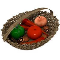 Veggie Basket 3D Model