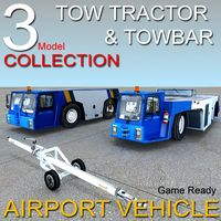 Airport vehicle tow tractor Goldhofer Tracma Towbar collection