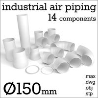 150 mm industrial air piping