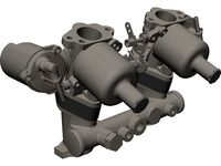 Carburetor SU HS2 3D CAD Model