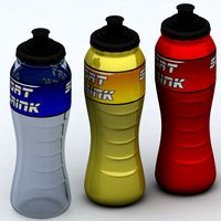 Sport bottle high detail poly3d model