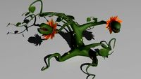 Vine monster plant 3D Model
