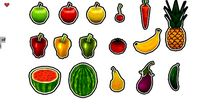 Comic Fruits and Veggies