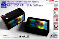PTC Creo Skills Showcase APC 12V 7AH SLA Battery