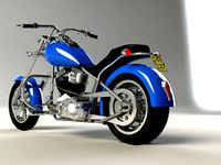 Blue panhead chopper