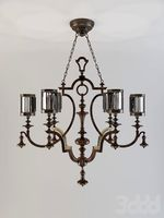 fine art lamps chandelier 607040