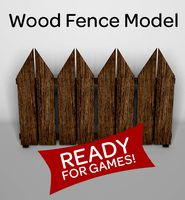 Wood Fence Model for Games