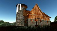 Medieval Tavern House Open Building