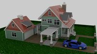 Craftsman Style House 3d Model