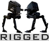 Star Wars AT-ST walker RIGGED