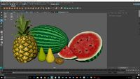 low poly fruit bundle 2
