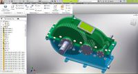 2 speed reducer gearbox 3D model