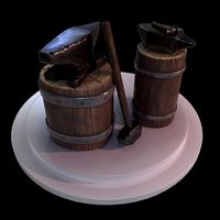 3D Set of Blacksmith Tools - PBR Game Ready