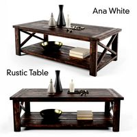 Ana White Rustic X Coffee Table