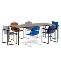 ARCO Frame chairs and Slim table