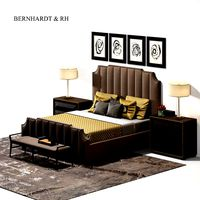 bernhardt and restoration hardware bed set