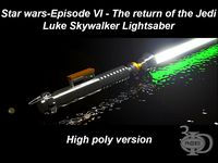Luke's Lightsaber (high poly version)