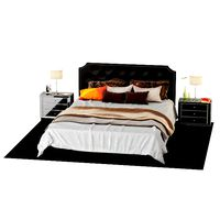 Double bed + bedside tables