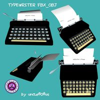 Typewriter_Old FBX OBJ