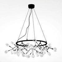 LED chandelier Crystal lux EVITA SP45 D BLACK/TRANSPARENT