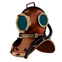 Underwater diving scuba helmet