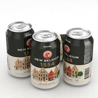 Beer Can New Belgium 1554 Black Lager 12fl oz