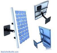 Wall Mount Solar Panel High Detaile