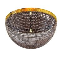 Sherle Wagner Round Crystal Beaded Light