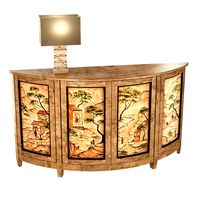 Nancy Corzine Harelequin Demilune Buffet vaughan Cartagena Lamp
