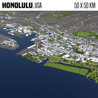 Honolulu 50x50km