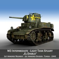 M3 Light Tank Stuart - El Diablo