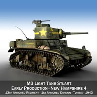 M3 Light Tank Stuart - New Hampshire 4