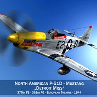 North American P-51D - Detroit Miss