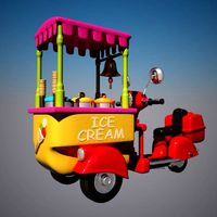 Toon Icecream Bike