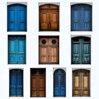 Collection of 10 Lowpoly Exterior Doors