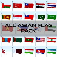 All Asian Flag Pack
