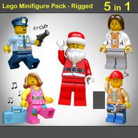 Lego Minifigure Pack - Rigged