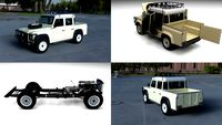 Full Land Rover Defender 110 Double Cab Pick Up HDRI