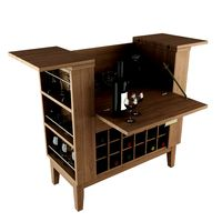 Bar Spirits Cabinet Opened