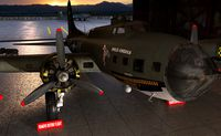 Detailed B-17 Flying Fortress in Hangar