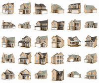 Hi-poly cottages mega pack 2