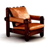 vintage mid century brazilian lounge chair 3d model
