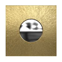 Brabbu huli rectangular brass mirror 3d model