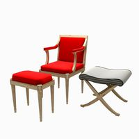 chair, pouf and stool