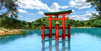 Itsukushima Shrine, The Torii. Japan