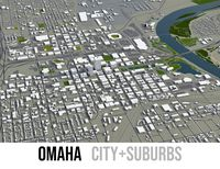 Omaha - city and surrounding area