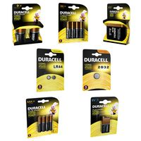 Duracell Batteries Packages Collection