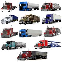 Industrial Trucks with Trailers Collection