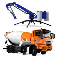 Rigged Mixer Truck and Concrete Boom Pump Collection